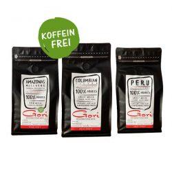 Probierpaket koffeinfreier Kaffee von Gori