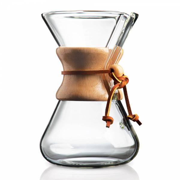 Chemex Filterkaffeekanne ist mundgeblasen